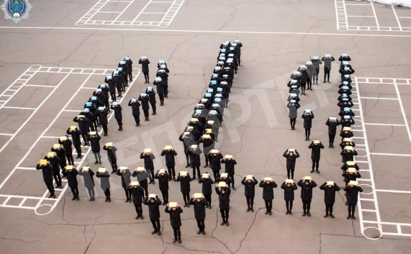 Днепровские курсанты проведут гербовый флешмоб