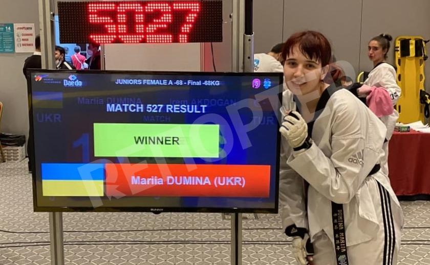 Тхэквондистка-юниор из Днепра Мария Думина выиграла «Turkish Open»