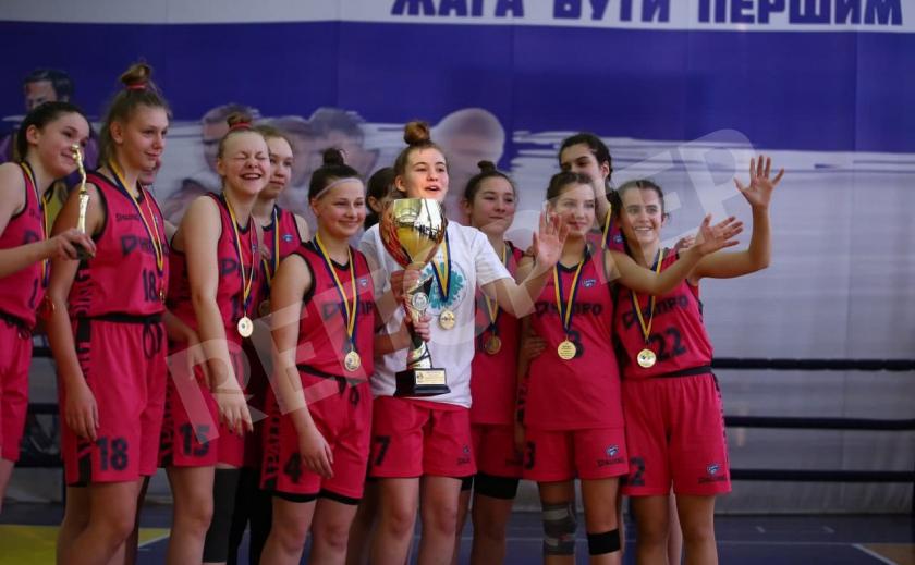 Юные баскетболистки Днепра выиграли ВЮБЛ