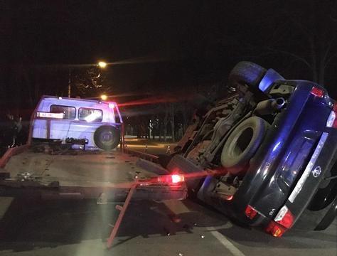 В аварии с внедорожником Кривом Роге пострадал водитель ФОТО
