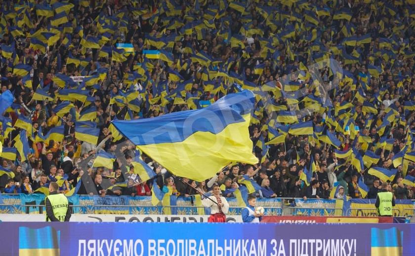 Карта Украины, «Слава Украине!» и «Героям слава!» стали футбольными символами Украины