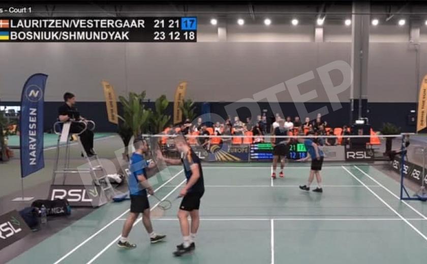 Бадминтонисты из Днепра завоевали «серебро» в мужской паре на турнире в Литве
