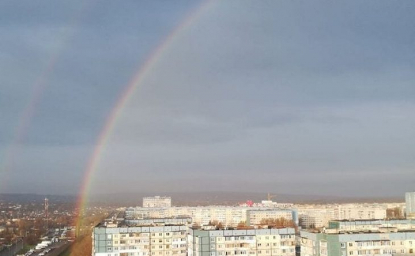 Плохая примета? Над Днепром расцвела двойная радуга ФОТО