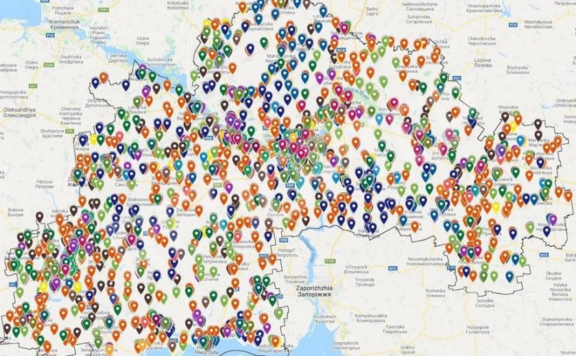 Полезно! На Днепропетровщине появилась интерактивная карта публичного сервиса