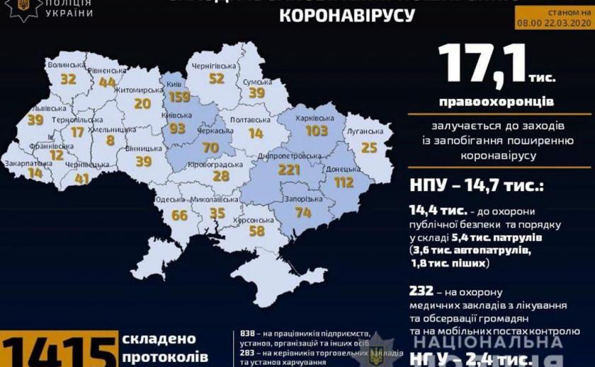 Днепропетровщина лидирует по количеству нарушений карантина
