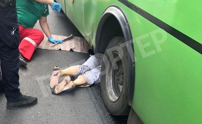 В центре Днепра маршрутка задавила пешехода